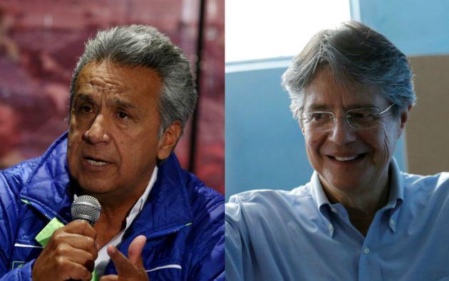 Lenín Moreno, de AP, y Guillermo Lasso de CREO se medirán en la segunda vuelta presidencial, a realizarse el 2 de abril. Fotos: Reuters.