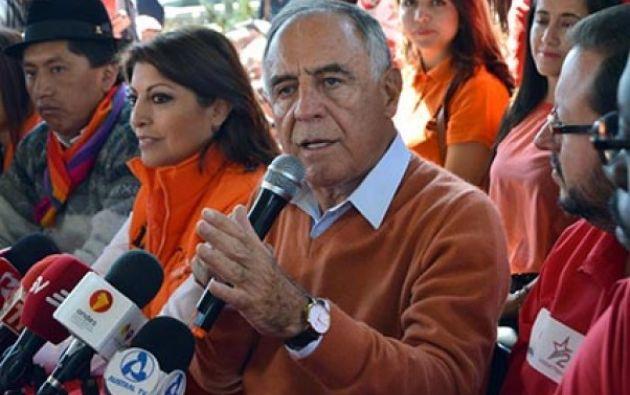 Paco Moncayo, excandidato presidencial por el Acuerdo Nacional por el Cambio.| Foto: Tomada de Diario Correo.