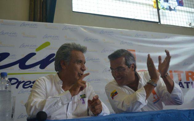 Moreno aseguró que conoció a Jairala a través de su programa de equinoterapia en la Prefectura del Guayas. Foto: TW de Moreno