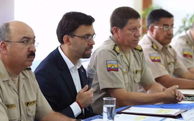 El titular del CNE reiteró que la institución electoral confía en los integrantes de la Policía. Foto: Twitter / CNE.
