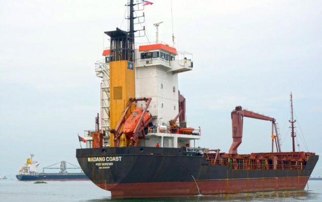 Navío cuenta con capacidad de 373 contenedores y sustituirá al carguero Isla Bartolomé. Foto: Twitter / Gobierno Galápagos.
