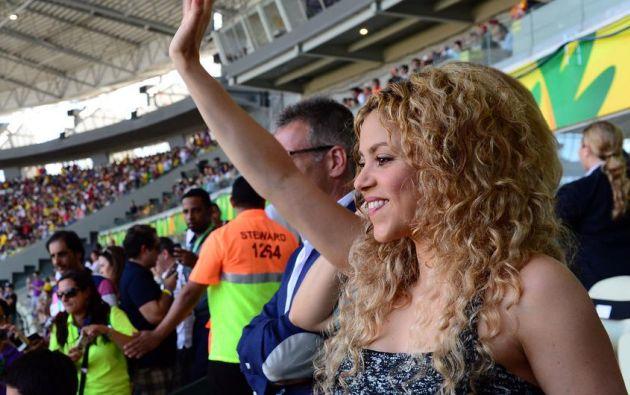 Qué momento!!! Y qué bonito es el fútbol!!! dijo Shakira. | Foto: Internet.