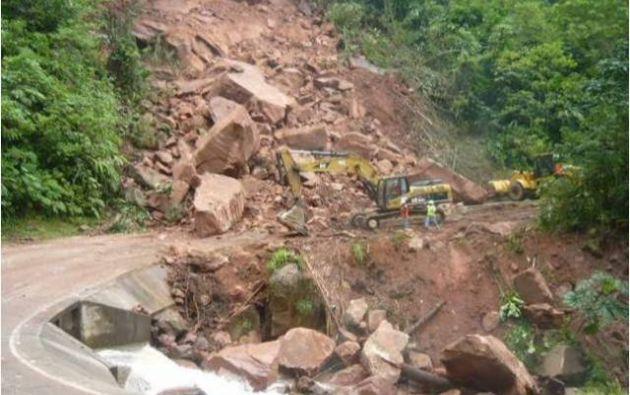 El deslizamiento de tierra ocurrió en el municipio de Pataz. |Foto: Huarmeyperu.