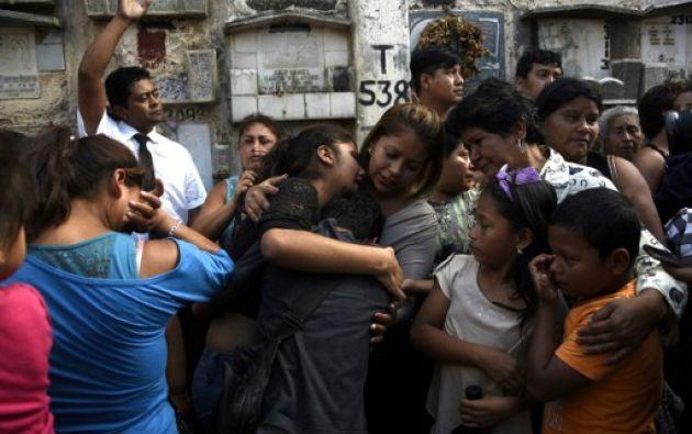 """La poderosa cúpula empresarial guatemalteca demandó hoy a las autoridades una """"investigación"""" profunda por la muerte de las niñas. Foto: AFP"""