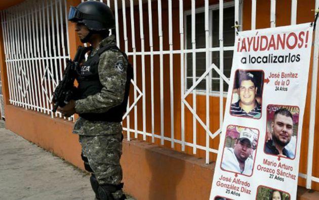 Las primeras de estas fosas habían sido descubiertas en agosto por el colectivo El Solecito. Foto: AFP