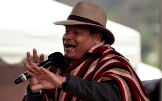 """ZUMBAHUA.- Según Correa, la propuesta del exbanquero Lasso supondría la destrucción de las políticas sociales que ha aplicado la """"Revolución ciudadana"""". Foto: AFP"""