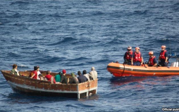 Desde enero, habían cesado los reportes de balseros cubanos que intentaban alcanzar las costas de Florida. Foto: Archivo, Guardia Costera de EEUU.