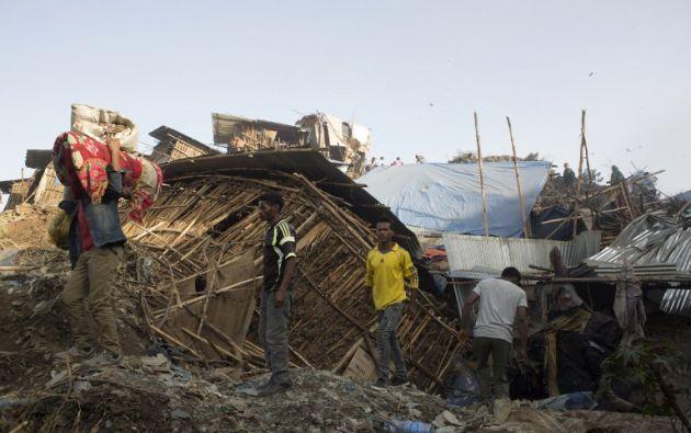 Koshe es el principal vertedero de Adis Abeba.| Foto: AFP