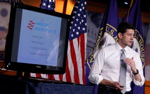El presidente de la Cámara de Representantes, Paul Ryan, habla sobre el plan de salud propuesto como alternativa a Obamacare. Foto: Reuters.