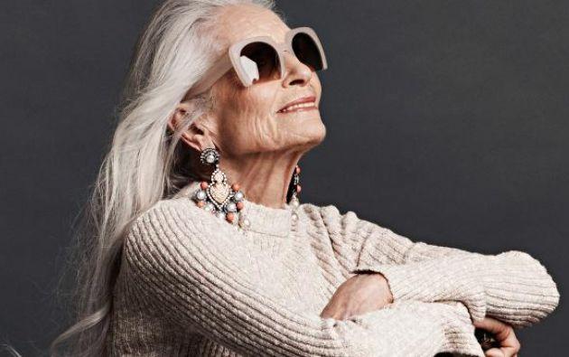 A sus 86 años, Daphne jamás se ha inyectado botox, ni se ha sometido a cirugías estéticas.| Foto:Internet
