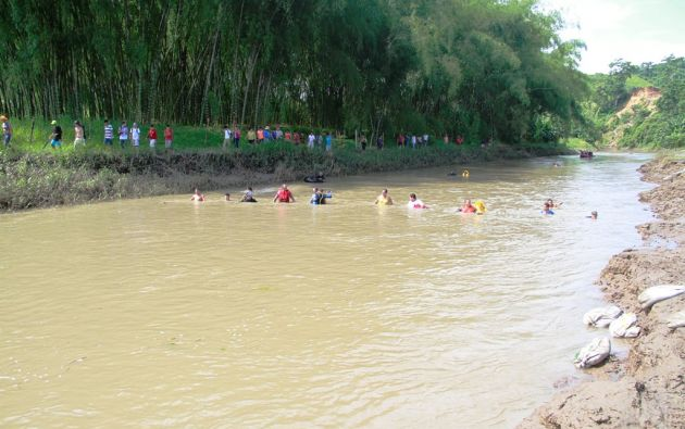 La titular de Riesgos informó que una persona se ahogó en el río Carrizal, del cantón Bolívar. Foto: Twitter.