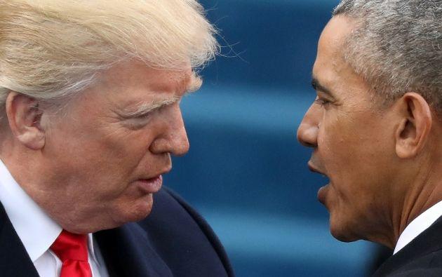 """""""Gracias a esta ley, más del noventa por ciento de los estadounidenses están asegurados, la tasa más alta de nuestra historia"""", dijo el expresidente.  Foto: Reuters"""