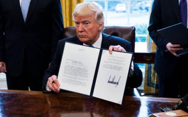 """Trump consideró que la autorización concedida a TransCanada abre una """"nueva era"""" en la política energética.   Foto: PrensaPress"""