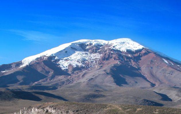 El nevado del Chimborazo ha sido uno de los picos afectados por el deshielo. Foto: Cortesía