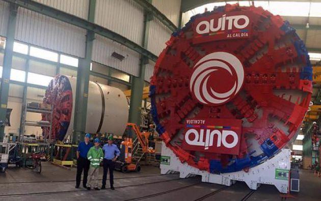 La excavación del túnel del metro de Quito durará aproximadamente 21 meses.| Foto: Internet