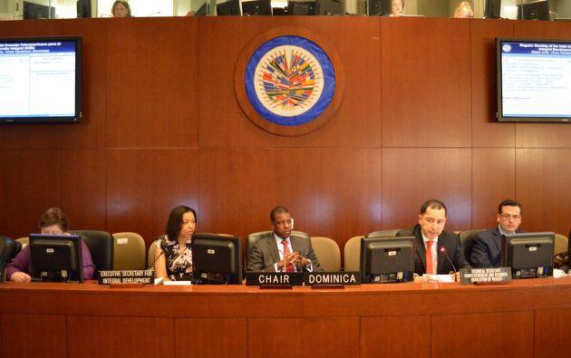 Al término de la sesión de la OEA, se espera que el organismo emita una declaración sobre la crisis política de Venezuela. Foto: OEA
