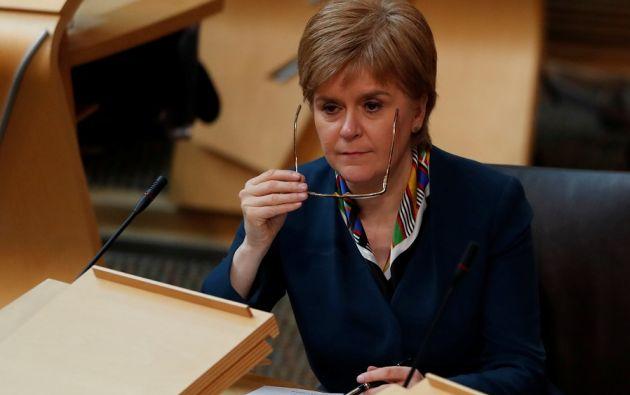 La dirigente independentista puso en duda que el Gobierno británico vaya a obtener un buen acuerdo en Bruselas.   Foto: Reuters.