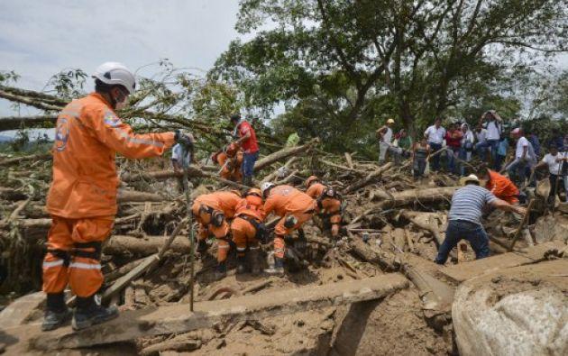 Colombia intensifica búsqueda de víctimas, con al menos 234 muertos.  Foto: AFP