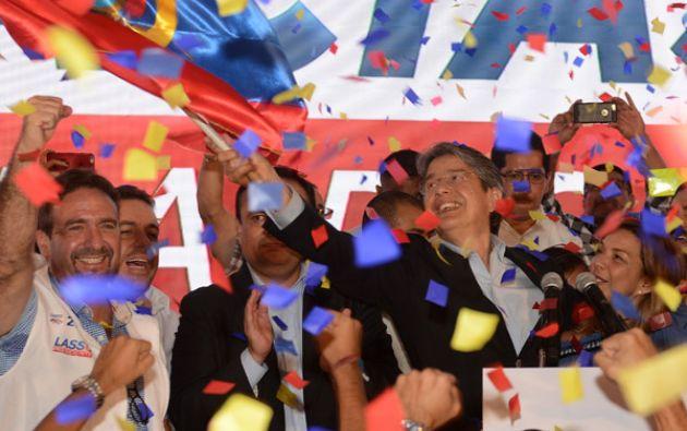 """""""Ahora tenemos un presidente que va a respetar a todos"""", manifestó Lasso. Foto: El Universo"""
