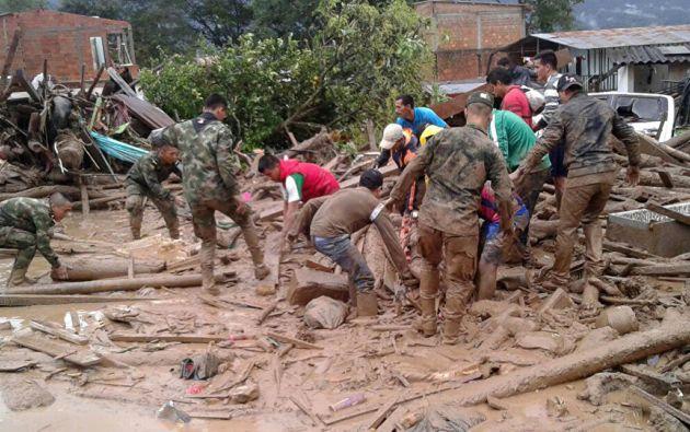 La Cruz Roja estimó en 45.000 los afectados en Mocoa. Gran parte de la población seguía sin energía eléctrica ni agua corriente.  Foto: Sputnik Mundo