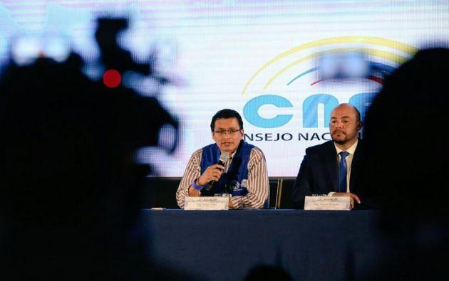 Diego Tello del CNE indicó que todo el proceso de segunda vuelta se cumplió bajó los parámetros legales y técnicos necesarios. Foto: TW del CNE