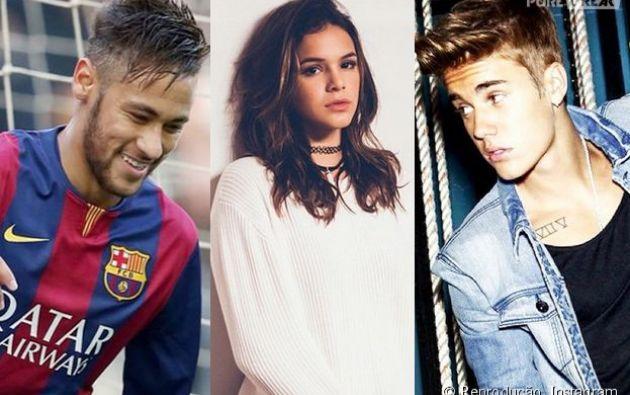 Bieber se acercó a Bruna con la intención de bailar con ella.| Foto: Internet