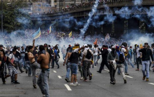 El presidente afirmó que hay 30 personas detenidas Foto: AFP