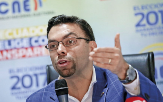 Juan Pablo Pozo, presidente del Consejo Nacional Electoral, ha sido cuestionado por falta de imparcialidad. Foto: Reuters