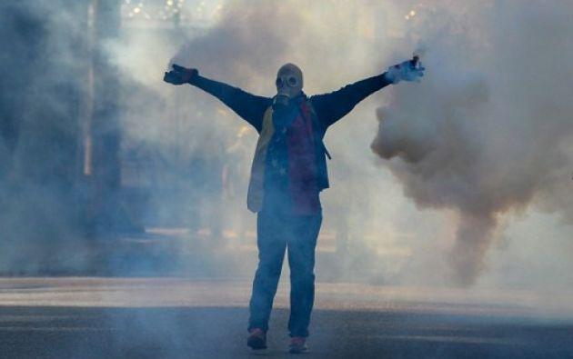 Las manifestaciones se iniciaron el 1 de abril en rechazo a dos sentencias del Tribunal Supremo de Justicia. Foto: AFP