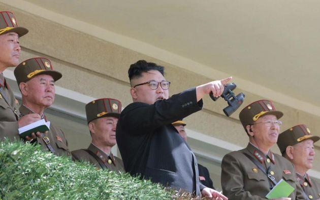 """El ejército de Corea del Norte subió el tono este viernes frente a Estados Unidos y prometió una """"respuesta sin piedad"""". Foto: AFP"""