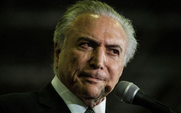Michel Temer, presidente de Brasil. Foto: Archivo