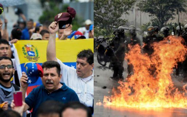 Las manifestaciones contra Maduro cumplen casi dos semanas. La principal demanda en la calle es la destitución de los magistrados del máximo tribunal. Foto: AFP