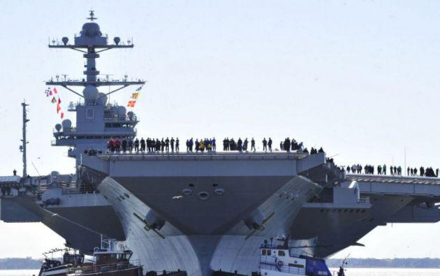 El portaaviones, acompañado por dos destructores lanzamisiles y por un crucero también lanzador de misiles, estará en el Mar de Japón en cuestión de días
