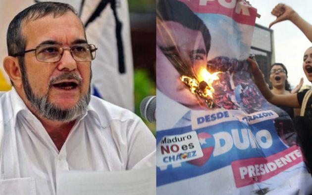 La guerrilla de las FARC expresó su apoyo al gobierno del presidente Nicolás Maduro y cuestionó las informaciones divulgadas sobre la situación en Venezuela. Foto: Archivo