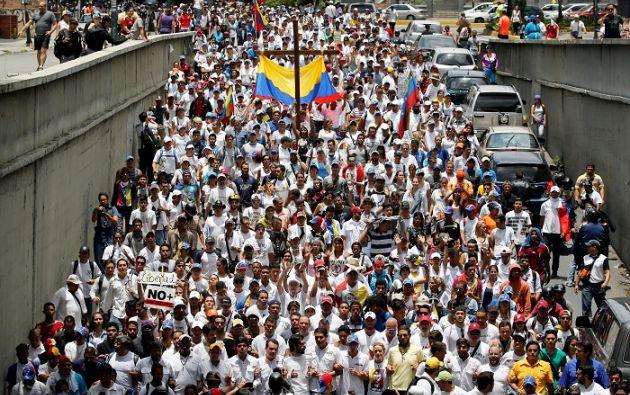 Más de un 70% de venezolanos, según encuestas privadas, reprueba la gestión de Maduro.| Foto: Reuters