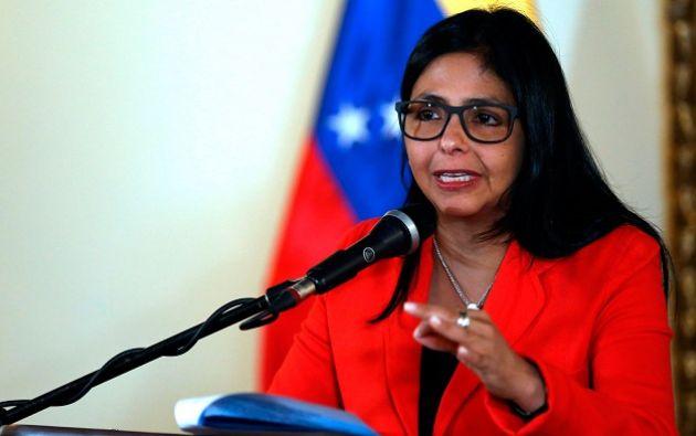 """Delcy Rodríguez dijo que Dijo que este es un """"aviso"""" que hace Maduro a la comunidad nacional e internacional. Foto: El billuyo"""