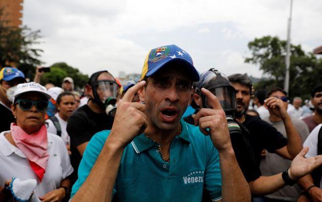 """El opositor aseguró que Maduro """"ha ordenado exterminar prácticamente al pueblo venezolano para él sostenerse en el poder"""". Foto: Archivo / Reuters."""