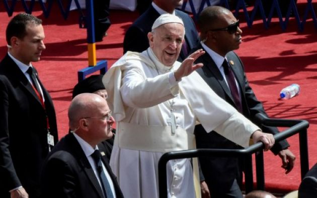 EGIPTO.- El pontífice argentino tiene previsto dejar Egipto en la tarde, tras su corta visita de 27 horas. Foto: AFP