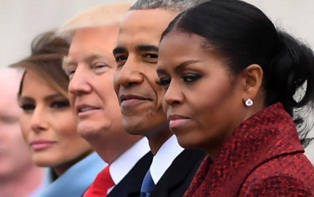 """Dos días antes de dejar el poder, Obama prometió que alzaría su voz si consideraba que las acciones de Trump amenazaban los """"valores principales"""" del país. AFP"""