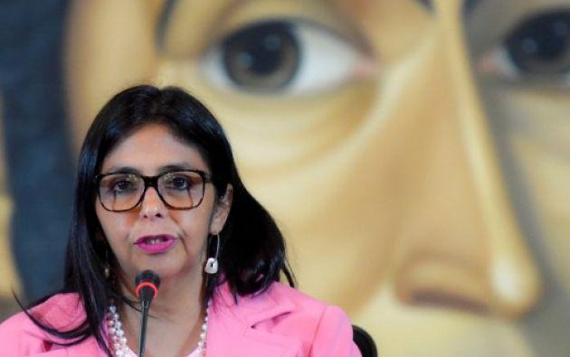 """Venezuela.- La ministra de Relaciones Exteriores reiteró que Venezuela no atenderá ningún """"proceso de intervención"""" contra su país. Foto: AFP"""