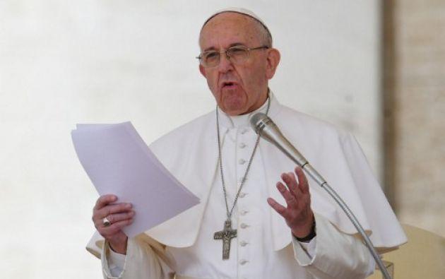 """El pontífice agregó en su alusión a Venezuela que confía a """"la santísima Virgen María la intención de la paz, la reconciliación y la democracia en aquel querido país. Foto: AFP"""