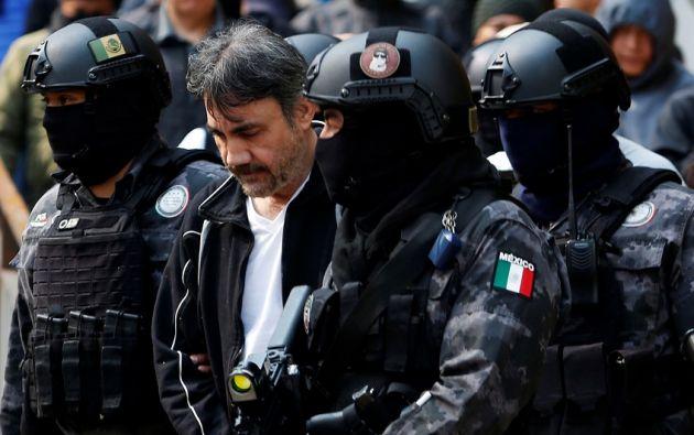 López, arrestado este martes en un edificio de lujo en la Ciudad de México, fue jefe en la Policía Judicial de Sinaloa. | Foto: Reuters.