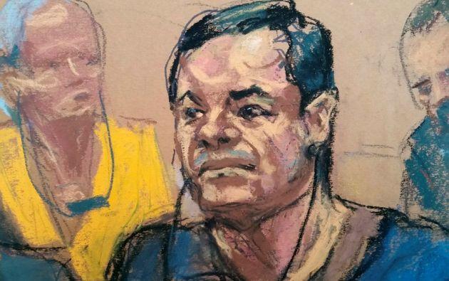 Ilustración de El Chapo Guzmán. Foto: Reuters.