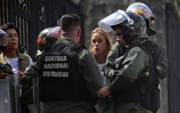 Lilian Tintori, esposa de Leopoldo López. Foto: AFP