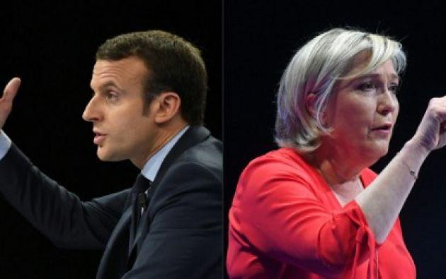 Durante la campaña, Macron y Le Pen buscaron pulir su estatura internacional. Foto: AFP