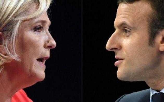 """Según publican hoy las ediciones digitales del diario francófono """"Le Soir"""" y de la televisión francófona RTBF belgas, el centrista Macron se impondría. Foto: AFP"""