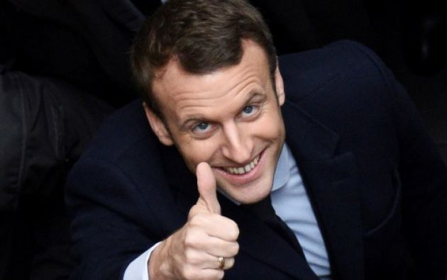 """Macron y su contrincante, Le Pen mantuvieron conversación telefónica """"breve"""" y """"cordial"""". Foto: AFP"""