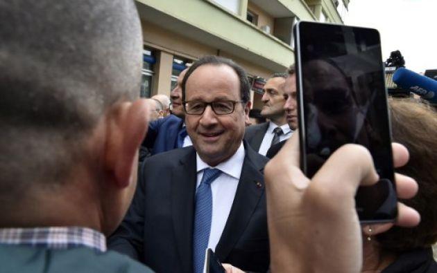 El hashtag #avoté (#havotado), acompañado de una urna con la bandera francesa, se convirtió en tendencia. Foto: AFP