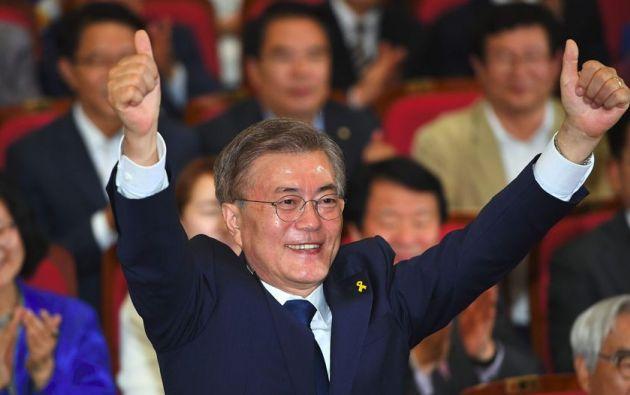 Moon Jae-In obtuvo 41,4% de los votos.| Foto: AFP