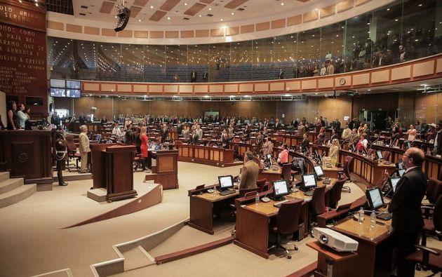 Los nuevos asambleístas recibieron sus credenciales el pasado viernes y se posesionan este domingo 14 de mayo.Foto: TW Asamblea